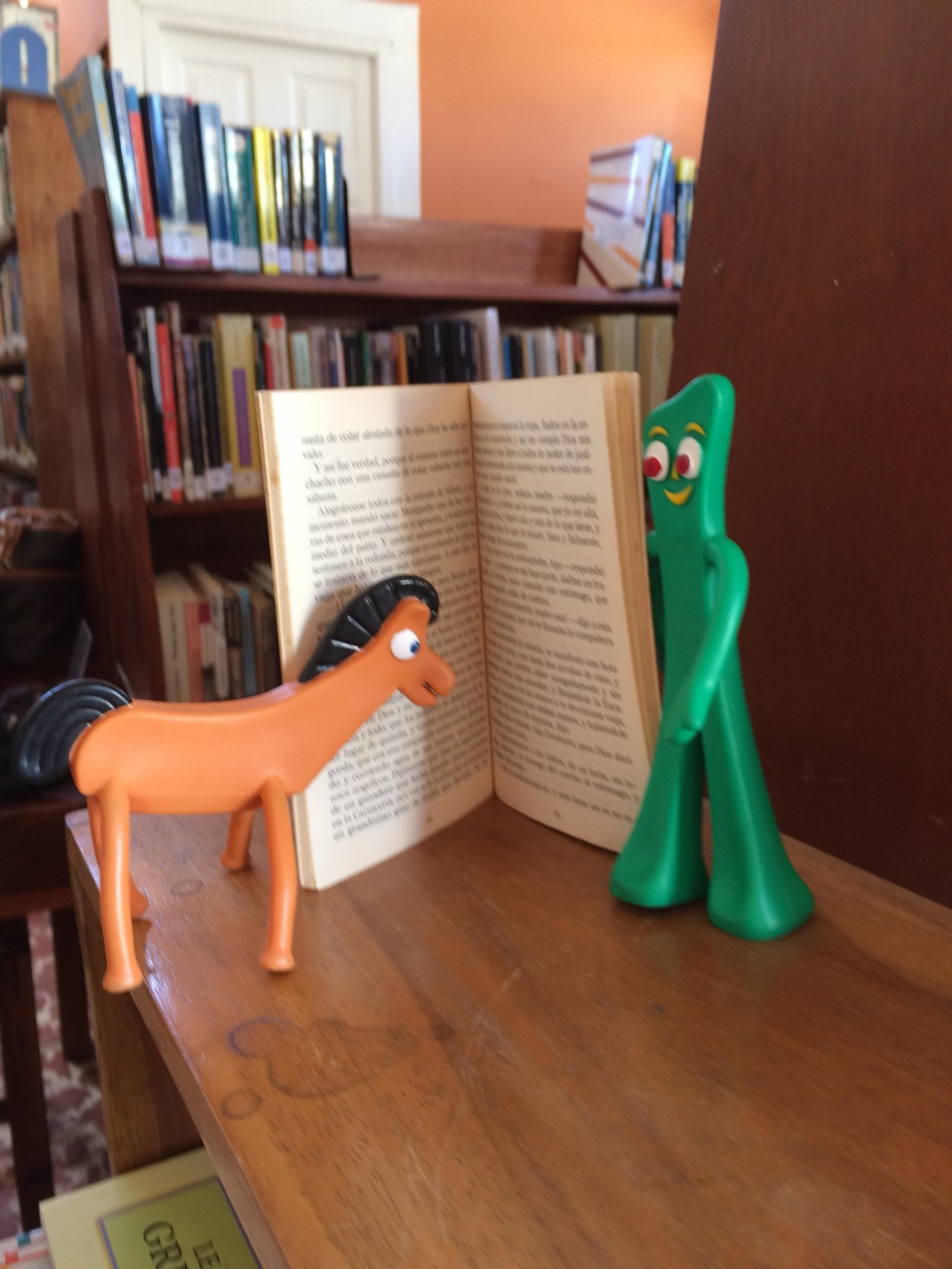 Pokey and Gumby love to read!