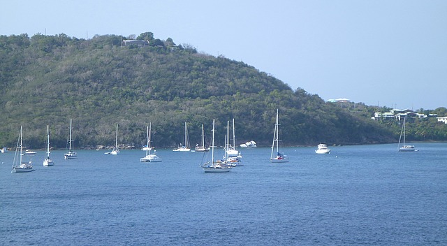 Yachts in beautiful Crown Bay