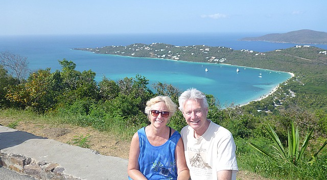 Us at the Megan's Bay viewpoint