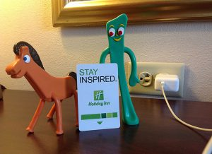 Pokey and Gumby are always up for an adventure. Here they are in Kansas City.